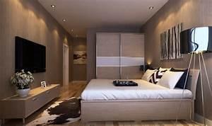 Tv Im Schlafzimmer : 35 kreative gestaltungen mit tv wandschrank ~ Markanthonyermac.com Haus und Dekorationen