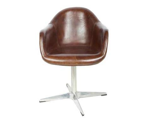 fauteuil de bureau retro fauteuil de bureau vintage en cuir pleine fleur aviateur