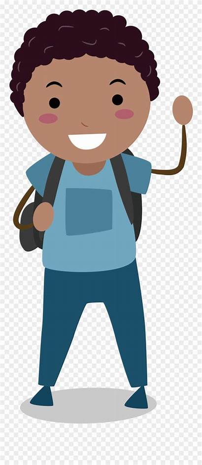 Clipart Middle Boy Students Male Cartoon Grade