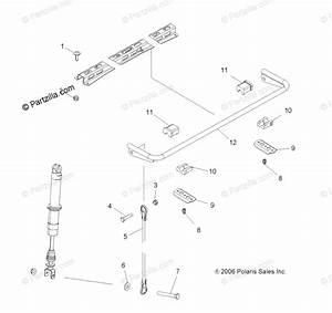 Polaris Atv 2011 Oem Parts Diagram For Suspension  Rear