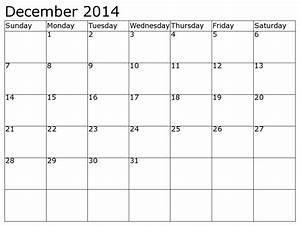 fillable calendar template 2014 - 5 best images of dec 2014 calendar printable template