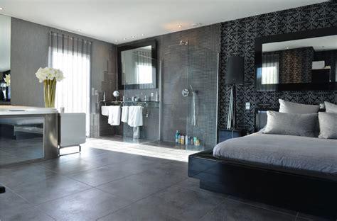 salle de bain ouverte dans chambre attrayant modele de chambre peinte 4 chambre avec salle