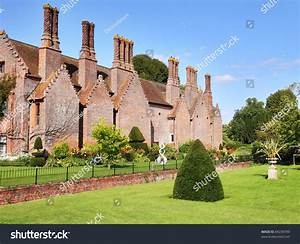 Medieval English Manor House And Garden Stock Photo ...