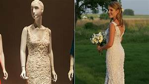 jenna bush hager39s wedding gown on display at oscar de la With jenna bush wedding dress