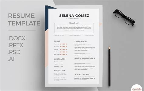 Professional Resume Template Word by 50 Eye Catching Cv Templates For Ms Word Free To
