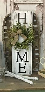 Home Decorating Ideas Rustic HOME Sign With Wreath