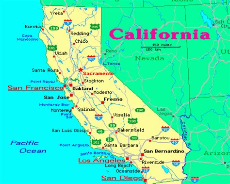 map  california california map  cities california