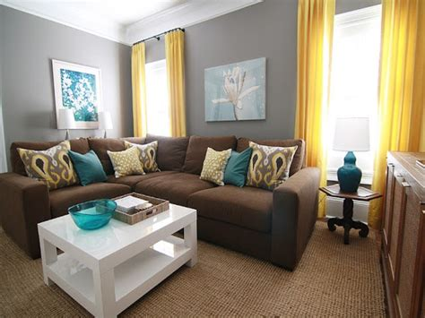 Brown Living Room Grey Yellow Teal And Brown Living Room