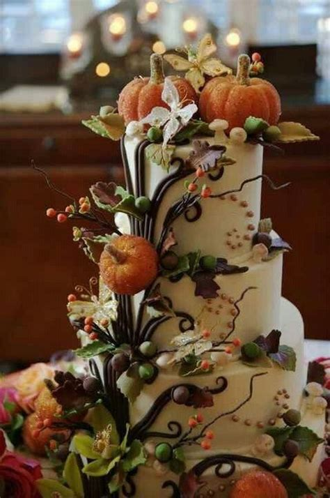 45 Fabulous Fall Cakes And Cupcakes Decorating Ideas For