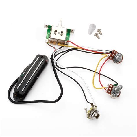 Electric Guitar Pickup Jack Prewired Wiring Harness New