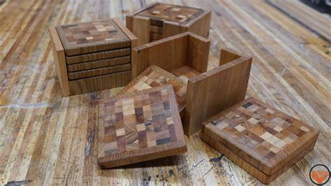 pallet wood  grain coasters  jackman works
