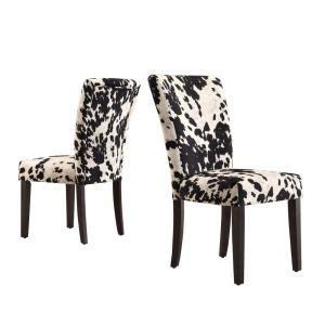 homesullivan whitmire parson fabric dining chair in black