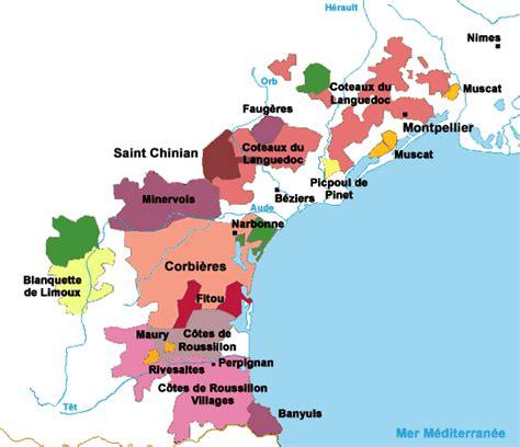 cuisine et terroirs le vin carte du languedoc roussillon