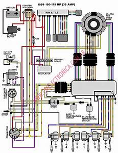 Diagrama Evinrude Johnson 1989 89 150 175 35 A