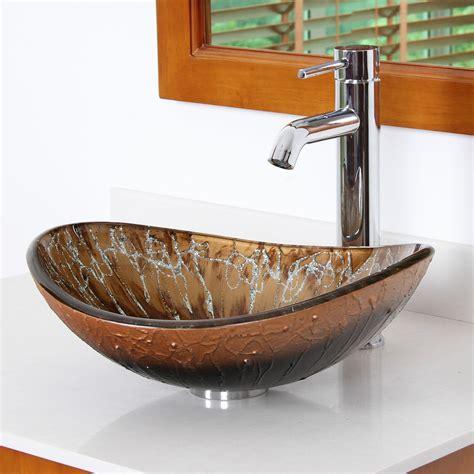 Sink Bowl Bathroom by Elite Painted Boat Shaped Oval Bottom Bowl Vessel