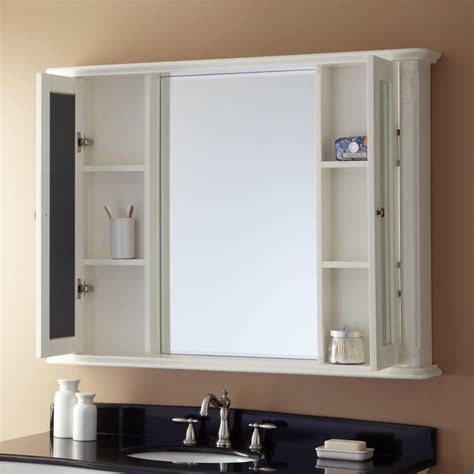 White Bathroom Cabinet With Mirror by 48 Quot Sedwick Medicine Cabinet Medicine Cabinets Bathroom