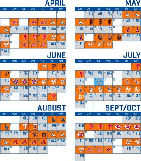 york mets sortable schedule  york mets