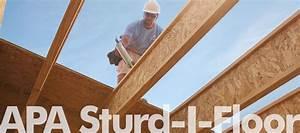 underlayment subfloor apa the engineered wood association With sturd i floor
