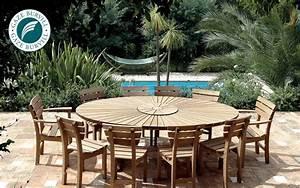 Table De Jardin Ronde : table de jardin ronde tables de jardin decofinder ~ Teatrodelosmanantiales.com Idées de Décoration