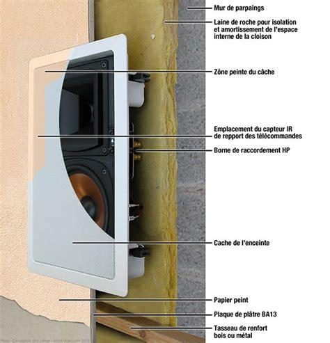 haut parleur pour salle de bain installer des enceintes encastrables sur vid 233 o