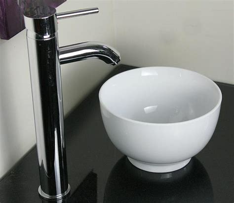 very small vessel sinks 9in very small baby round white porcelain ceramic modern