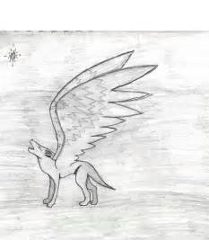 Anime Wolves with Wings Drawings