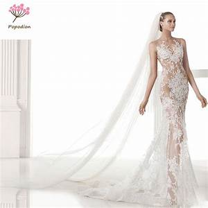 aliexpresscom buy slim train handmade wedding gowns With slim wedding dresses