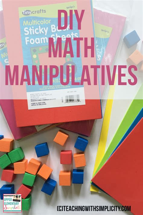 algebra tiles manipulatives elementary snapshots diy math manipulatives