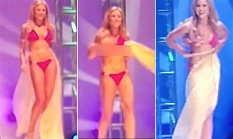 Miss Beverly Hills Suffers Bikini Malfunction During