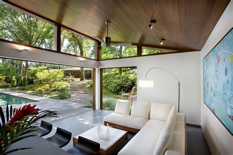 mid century modern doors patio modern with clerestory