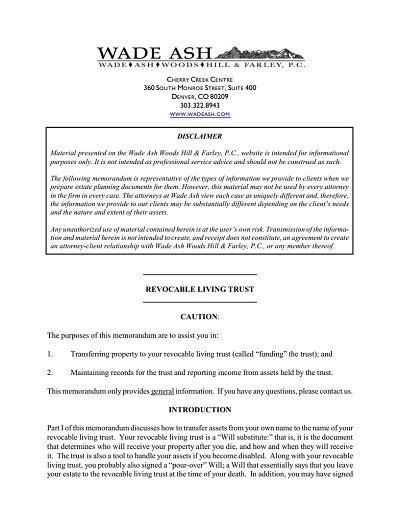 printable living trust forms free living trust forms to print living trust sle