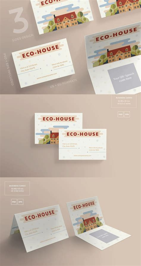 eco house business card template  ambergraphics