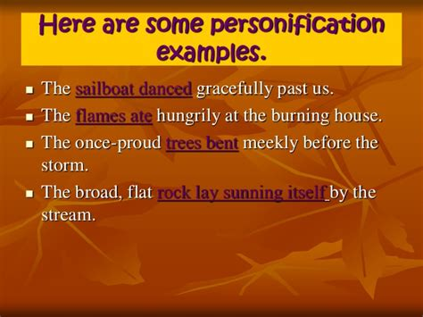 Examples Of Personification Sentences