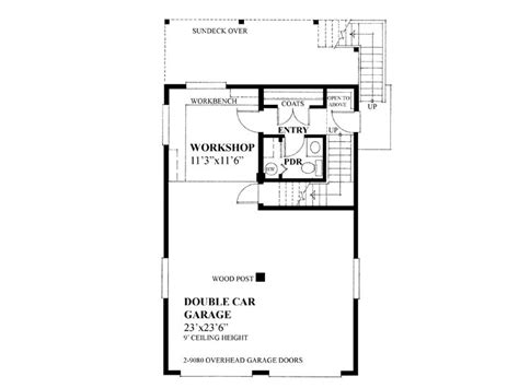 Delightful Garage Blueprints With Loft by Garage Workshop Plans 2 Car Garage Workshop Plan With
