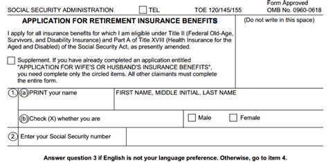 social security benefits application form online printable application for social security retirement