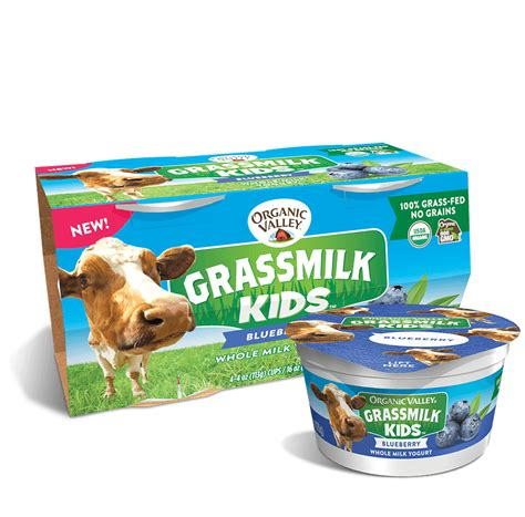 It's best to get your raw milk from a local organic farm to. Organic Valley Blueberry Whole Grass Milk Kids Yogurt (4 ...