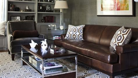 accent chairs to go with leather sofa hexagon rug transitional den library office morgan