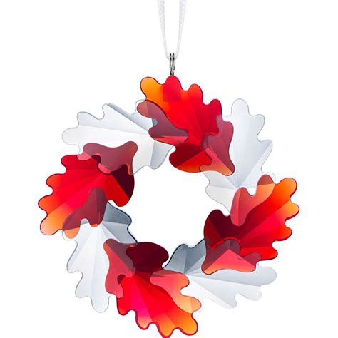 swarovski wreath ornament leaves crystal ornament