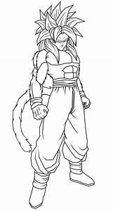Goku ssj4 colorear - Imagui