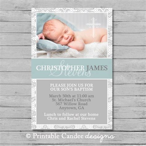 Best 25+ Christening Invitations Boy Ideas On Pinterest