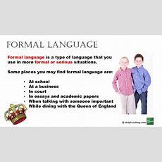 Formal Vs Informal Language Youtube
