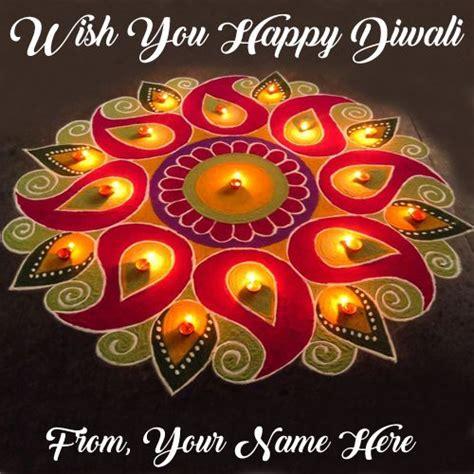 write  wishes beautiful diwali greeting card candles