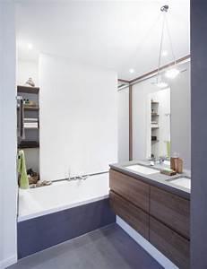 petite salle de bains 45 idees inspirantes pour votre With idee couleur petite salle de bain