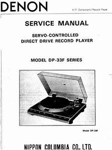 Denon Dp 33f Turntable System Service Manual Free Download