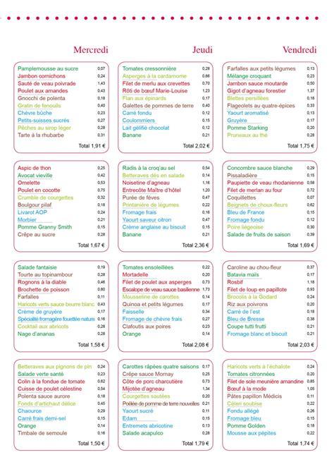 menu cuisine collective menu entreprise le cuisinier mai 2014 vici