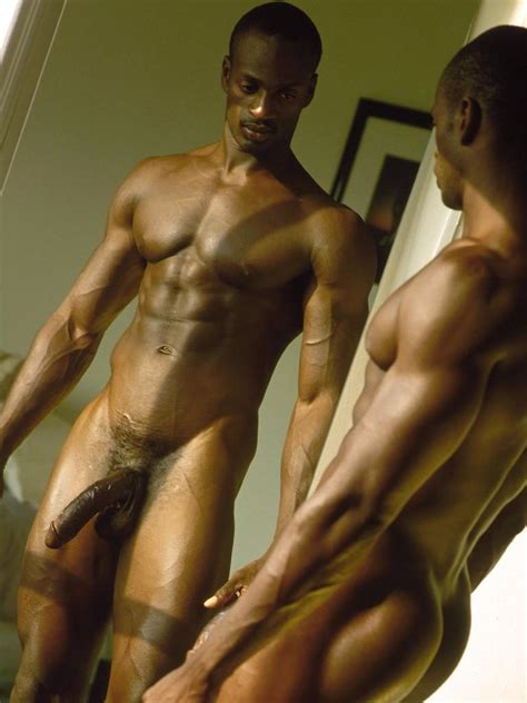 Muscular Man Is Showing His Big Erected Cock Hood Tube