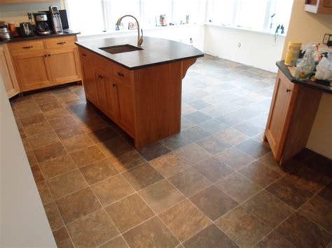 kitchen vinyl sheet flooring kitchen sheet vinyl tile look tarkett traditional 6387
