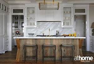 salvaged wood kitchen island contemporary kitchen at With kitchen colors with white cabinets with driftwood fish wall art