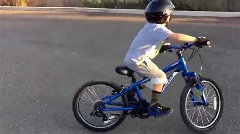 5 Year Old Climbing Curbs On Specialized Mountain Bike