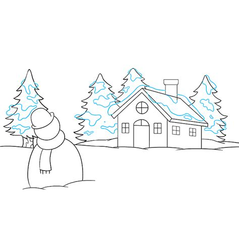 winter wonderland ideas drawings